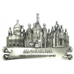 Magnet metal 027-1ATN-19K35  scroll Moscow cathedrals silver