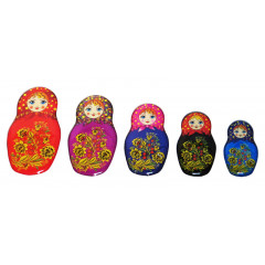 Magnet resin 02-34N1-4F-EVA Set of magnets pitch a nested doll 5 pieces N 1-4