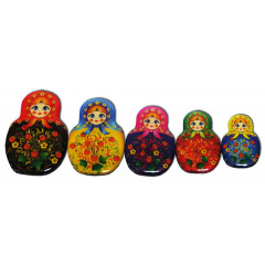 Magnet resin 02-34N3-2F-EVA Set of magnets pitch a nested doll 5 pieces N 3-2