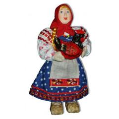 Doll handmade copyright Galina Maslennikova A2-8-1 Girl with a hen