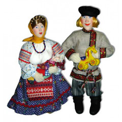 Doll handmade copyright Galina Maslennikova D9 Peasant's family composition