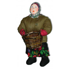Doll handmade copyright Galina Maslennikova A2-1 Russian woman with a basket