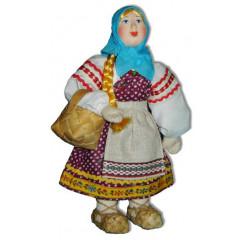 Doll handmade copyright Galina Maslennikova A2-8 Girl with basket