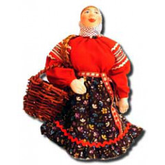 Doll handmade copyright Galina Maslennikova A2-5 Mariya with a basket