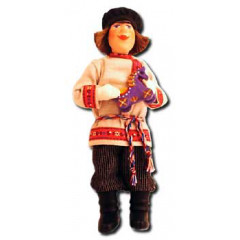 Doll handmade copyright Galina Maslennikova D9-2 Peasant with a toy