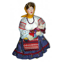 Doll handmade copyright Galina Maslennikova D9-1 Peasant woman with baby