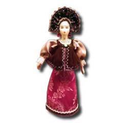 Doll handmade average AF-9 In a national costume