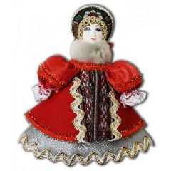 Doll handmade small af40 Christmas tree ornament