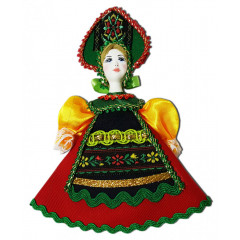 Doll handmade small Christmas tree ornament