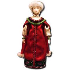 Doll handmade average AF-11 In a national costume
