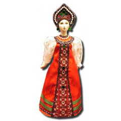 Doll handmade average AF-21 In a national costume