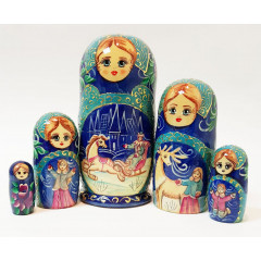 Nesting doll 5 pcs. The Snow Queen, M