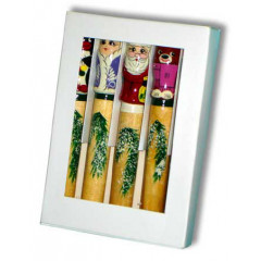New Year and Christmas Pencil a set 5 piece in a box