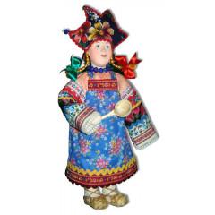 Doll handmade copyright Galina Maslennikova SKMD Russian skomorokh girl