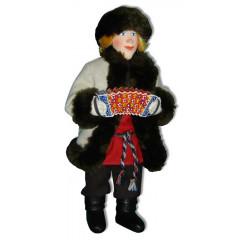 Doll handmade copyright Galina Maslennikova A2-3 Ivan in  the short fur coat