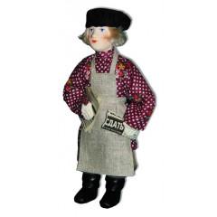 Doll handmade copyright Galina Maslennikova A2-23-3 Boy with a newspaper's