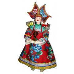 Doll handmade copyright Galina Maslennikova SKBD Russian skomorokh female