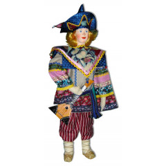 Doll handmade copyright Galina Maslennikova SKBM Russian skomorokh male