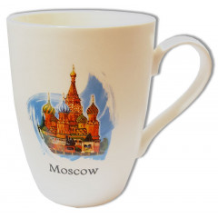 Mug 065-7-19-IL I love Moscow, white