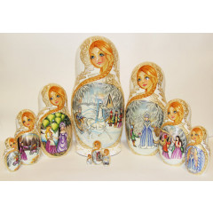 Nesting doll 10 pcs. The snow queen
