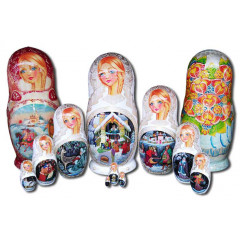 Nesting doll 10 pcs. Fairy tale Horse the humpback V
