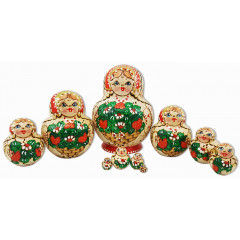 Nesting doll 10 pcs. Woodburn 10 pcs.
