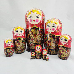 Nesting doll 10 pcs. Khohloma V