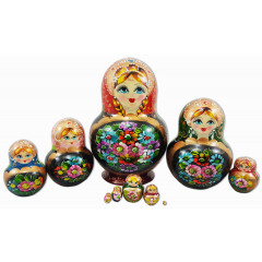 Nesting doll 10 pcs. super flower