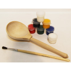 Creativity kit Spoon, a set for creativity (Spoon, paints, a brush in packing)