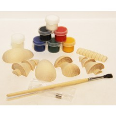 Creativity kit Wood, a set for creativity (magnets, paints, a brush in packing)