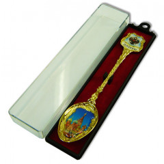 "Spoon 115-19 souvenir ""Moscow St. Basil Cathedral"" enamel in gift packing"