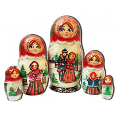 Nesting doll 5 pcs. two, the guy with the girl