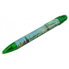 Pen 464-17-G souvenir Moscow the Panorama green