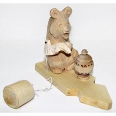 Bogorodskaya toy Bears at tea party.