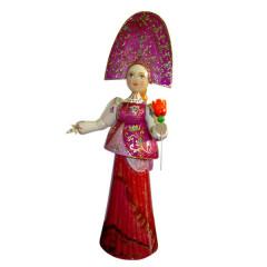 Doll handmade wooden big - 30 sm, handmade, handpainted
