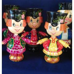 Doll handmade wooden Ivan Small - 12 sm,  handmade, handpainted