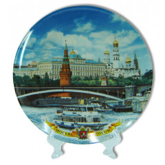"Plate 20-6-17 Plate porcelain without a board ""Moscow. A panorama"" 20 cm."