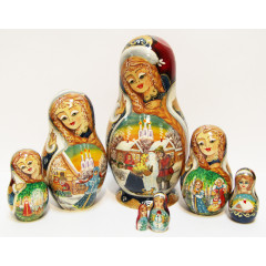 Nesting doll Sergiev-Posad 7 pcs. Snowmaiden