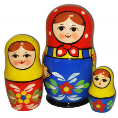 Nesting doll Traditional 3 pcs.