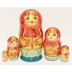 Nesting doll Sergiev-Posad 5 pcs. Winter