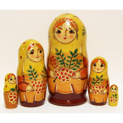 Nesting doll Sergiev-Posad 5 pcs. Autumn