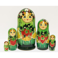 Nesting doll Sergiev-Posad 5 pcs. Summer