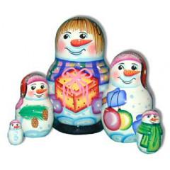 Nesting doll Sergiev-Posad 5 pcs. Snowball