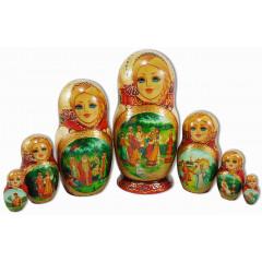 Nesting doll 7 pcs. Tales