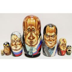 Nesting doll 7 pcs. Leaders of Russia 7 pcs.