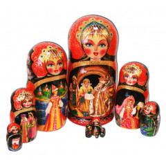 Nesting doll 10 pcs. Fairy tale The Frog Queen