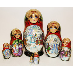 Nesting doll 7 pcs. The snow queen