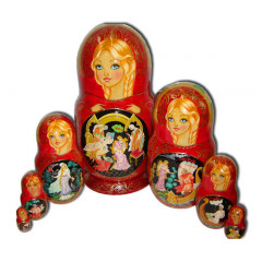 Nesting doll 7 pcs. Three Maidens