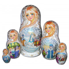 Nesting doll 5 pcs. Fairy tale The snow queen V