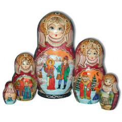 Nesting doll 5 pcs. 1814